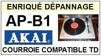 AKAI <br>APB1 AP-B1 Courroie Tourne-disques <BR><small>sce 2014-09</small>