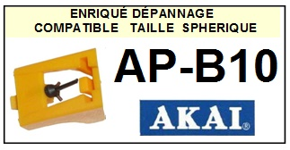 AKAI APB10 AP-B10 <br>Pointe diamant sphérique pour tourne-disques (stylus)<SMALL> 2015-12</SMALL>