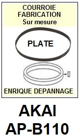 AKAI<br> APB110 AP-B110 Courroie (flat belt) pour Tourne-disques<small> 2015-09</small>