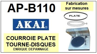 AKAI-APB110 AP-B110-COURROIES-ET-KITS-COURROIES-COMPATIBLES