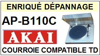 AKAI-APB110C AP-B110C-COURROIES-ET-KITS-COURROIES-COMPATIBLES