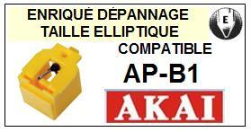 AKAI <br>Platine APB1 AP-B1 Pointe diamant elliptique <BR><small>sce 2014-09</small>