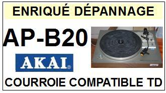 AKAI APB20 AP-B20 Courroie Tourne-disques <small>13-08</small>