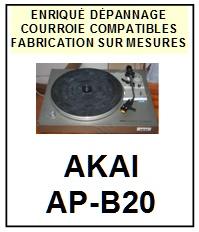 AKAI-APB20 AP-B20-COURROIES-ET-KITS-COURROIES-COMPATIBLES
