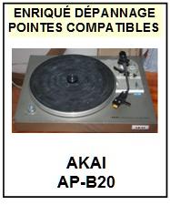 AKAI-APB20 AP-B20-POINTES-DE-LECTURE-DIAMANTS-SAPHIRS-COMPATIBLES