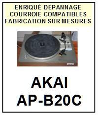 AKAI-APB20C AP-B20C-COURROIES-ET-KITS-COURROIES-COMPATIBLES
