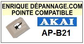 AKAI-APB21  AP-B21-POINTES-DE-LECTURE-DIAMANTS-SAPHIRS-COMPATIBLES