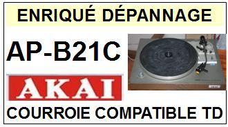 AKAI-APB21C AP-B21C-COURROIES-ET-KITS-COURROIES-COMPATIBLES