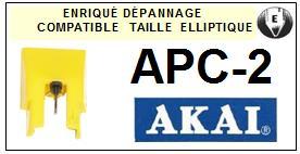 AKAI APC2 AP-C2 Pointe Diamant Elliptique <br><small>se 13-12</small>
