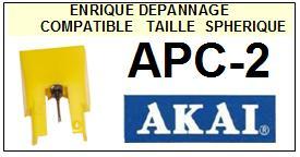 AKAI-APC2 AP-C2-POINTES-DE-LECTURE-DIAMANTS-SAPHIRS-COMPATIBLES