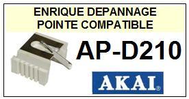 AKAI<br> APD210 AP-D210 Pointe sphérique pour tourne-disques <BR><small>a 2014-12</small>