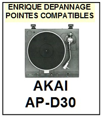 AKAI-APD30 AP-D30-POINTES-DE-LECTURE-DIAMANTS-SAPHIRS-COMPATIBLES