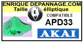 AKAI <br>Platine APD33 AP-D33 Pointe diamant elliptique <BR><small>se 2014-10</small>