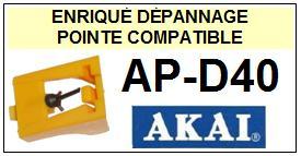 AKAI-APD40  AP-D40-POINTES-DE-LECTURE-DIAMANTS-SAPHIRS-COMPATIBLES