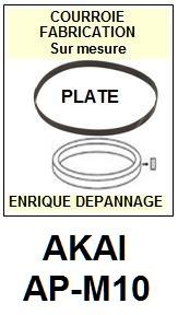 AKAI-APM10 AP-M10-COURROIES-COMPATIBLES