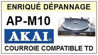 AKAI<br> APM10 AP-M10 courroie (flat belt) pour tourne-disques <BR><small>sc 2015-01</small>