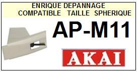 AKAI-APM11  AP-M11-POINTES-DE-LECTURE-DIAMANTS-SAPHIRS-COMPATIBLES