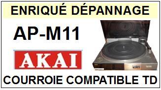 AKAI-APM11 AP-M11-COURROIES-ET-KITS-COURROIES-COMPATIBLES