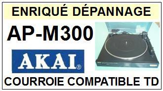 AKAI APM300 AP-M300 Courroie Tourne-disques <BR><small>sce 2014-02</small>