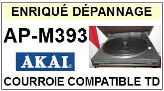 AKAI-APM393 AP-M393-COURROIES-ET-KITS-COURROIES-COMPATIBLES