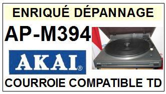 AKAI<br> APM394 AP-M394 Courroie (flat belt)Tourne-disques <br><small>c-pos 2015-03</small>