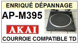 AKAI<br> APM395 AP-M395 Courroie (flat belt) pour Tourne-disques <BR><small>sc 2015-01</small>