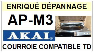 AKAI-APM3 AP-M3-COURROIES-COMPATIBLES