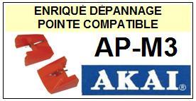 AKAI-APM3  AP-M3-POINTES-DE-LECTURE-DIAMANTS-SAPHIRS-COMPATIBLES