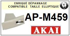 AKAI<br> APM459 AP-M459 Pointe (stylus) elliptique pour tourne-disques <BR><small>sce 2015-07</small>