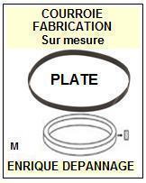 AKAI<br> APM512 AP-M512 courroie (flat belt) pour tourne-disques <BR><small>sce 2015-01</small>