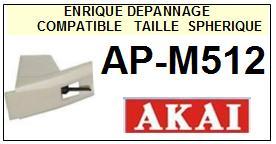 AKAI<br> APM512 AP-M512 Pointe sphérique pour tourne-disques <BR><small>sce 2015-01</small>