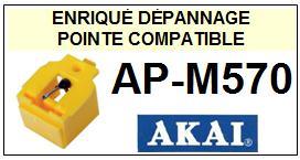 AKAI Platine APM570 AP-M570 (1°montage) Pointe diamant sphérique <BR><small>se+ori 2014-06</small>