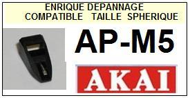 AKAI APM5 AP-M5 <br>Pointe diamant sphérique pour tourne-disques (stylus)<SMALL> 2016-01</SMALL>