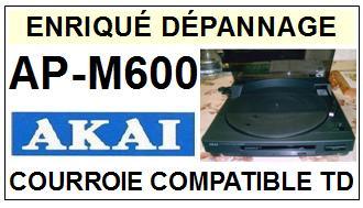 AKAI-APM600 AP-M600-COURROIES-ET-KITS-COURROIES-COMPATIBLES