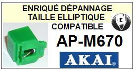 AKAI<br> APM670 AP-670 pointe elliptique pour tourne-disques <BR><small>sce+pos 2015-01</small>