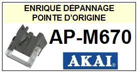 AKAI<br> APM670 AP-M670 (2°montage) Pointe sphérique d Origine<br> <SMALL>sce+pos 2015-01</SMALL>