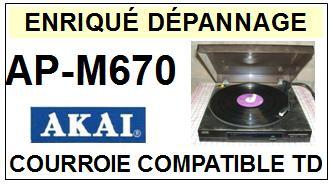 AKAI-APM670 AP-M670-COURROIES-COMPATIBLES