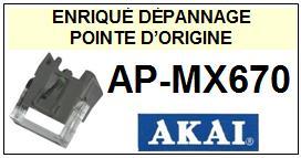 AKAI platine  APMX670  AP-MX670  Pointe de lecture d'Origine diamant sphérique