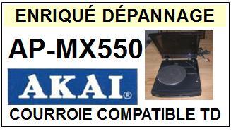 AKAI-APMX550 AP-MX550-COURROIES-COMPATIBLES