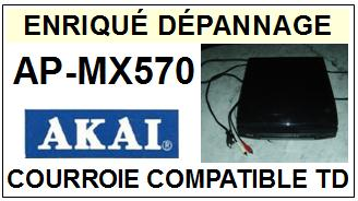 AKAI <br>Platine APMX570 AP-MX570 Courroie Tourne-disques (belt) <BR><small>c-pos 2014-11</small>