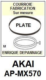 AKAI-APMX570 AP-MX570-COURROIES-ET-KITS-COURROIES-COMPATIBLES