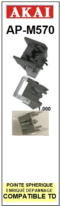 AKAI-APMX570 AP-MX570-POINTES-DE-LECTURE-DIAMANTS-SAPHIRS-COMPATIBLES