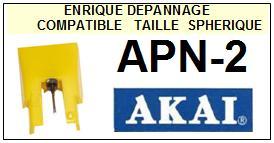 AKAI-APN2 APN-2-POINTES-DE-LECTURE-DIAMANTS-SAPHIRS-COMPATIBLES