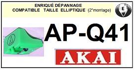 AKAI<br> APQ41 AP-Q41 (2°montage) pointe elliptique pour tourne-disques <BR><small>se(1+2) 2015-02</small>