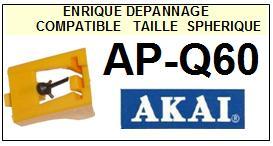 AKAI Platine APQ60 AP-Q60 Pointe de lecture Compatible diamant sphérique