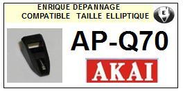 AKAI<br> APQ70 AP-Q70 Pointe (stylus) elliptique pour tourne-disques<SMALL> 2015-09</small>