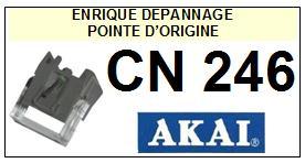 AKAI CN246 CN-246 Pointe Diamant sphérique <br><small>a 2014-02</small>