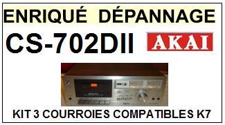 AKAI-CS702DII SC-702DII-COURROIES-COMPATIBLES