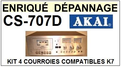 AKAI-CS707D CS-707D-COURROIES-COMPATIBLES