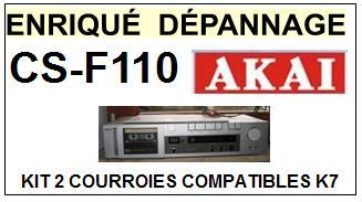 AKAI<br> CSF110 CS-F110 kit 2 Courroies (belts)Platine K7 <br><small>a 2014-11</small>